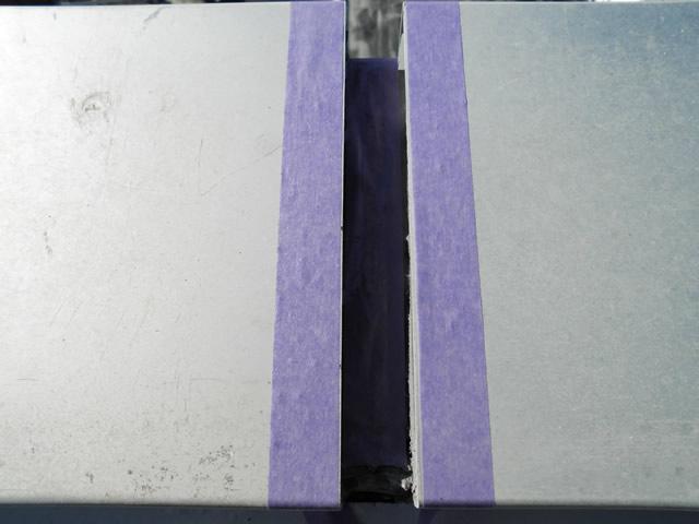 マスキングテープによる養生