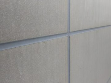 駐車場擁壁 アスロック板シーリング工事 名古屋市西区